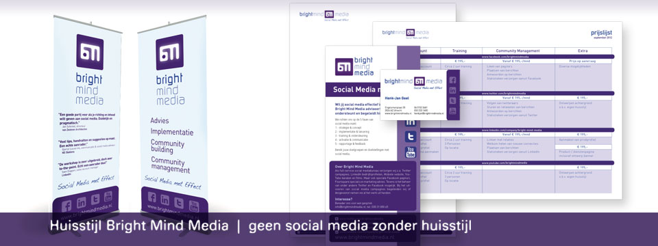Bright Mind Media huisstijl