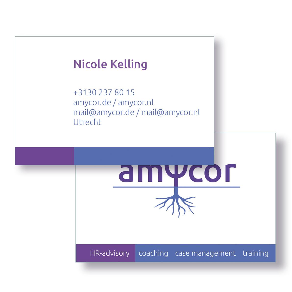 Amycor-visitekaart